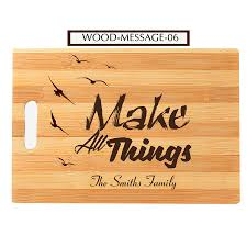 personalized engraved cutting board message engraved cutting board