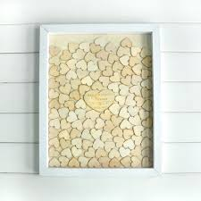 wedding guest book picture frame personalised wedding guest book alternative wood heart guest book