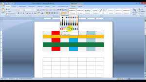 Change Table Color Table Fill Color From Microsoft Word