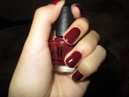e l f nail polish in dark red