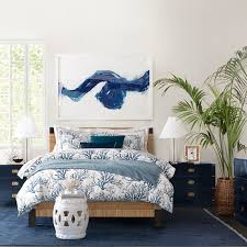 Blue Bed Frame Amalfi Woven Bed Williams Sonoma