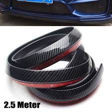 lexus is250 body kit singapore 2 5m universal pu carbon fiber front bumper lip splitter chin