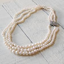 necklace vintage images Vintage style triple strand pearl necklace by highland angel jpg