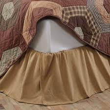 Burlap Ruffle Curtain Country Bedding Burlap Fringed Bed Skirt Queen