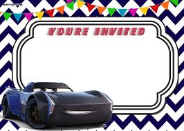download free printable cars 3 lightning mcqueen invitation