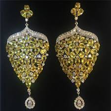 heavy diamond earrings buy artificial heavy earrings at sneha rateria