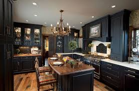 black kitchens designs kitchen black brings modern refinement to a traditional kitchen