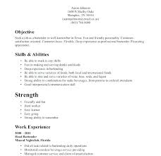 objective on a resume for bartending positions san diego resume bartender resume objective sles bartender resume objective