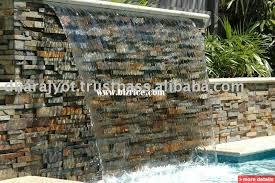 garden water wall outdoor slate stone wall fountain ft5 outdoor