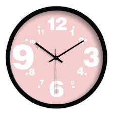 awesome wall clocks for 103 piece pink circular quartz wall