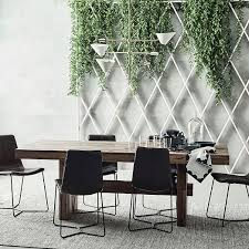 White Dining Table With Black Chairs Emmerson Reclaimed Wood Dining Table West Elm