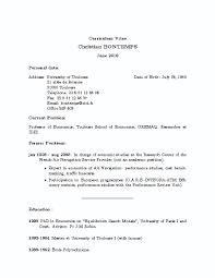 Sample Resume Writing Format by Ma Economics Resume Sample Virtren Com