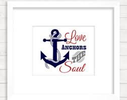Quot Love Anchors The Soul - nautical sign svg etsy