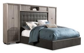 leons furniture kitchener franklin 5 piece king wallbed taupe leon u0027s