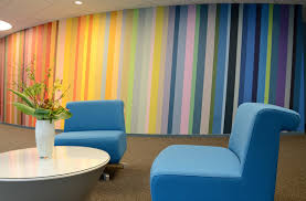 incorporate more color into the office via an accent mural x grand illusion in nyc paints office murals with colorful stripes in manhattan office space