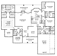 Sloped Lot House Plans Walkout Basement Floor Plans Craftsman Style Ranch With Walkout