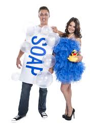 fun couple costume ideas for halloween soap and loofah couples costume exclusively at spirit halloween