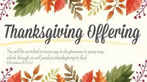 thanksgiving in church calvary church thanksgiving offering