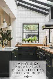 black kitchen cabinets images what ikea knows about the black kitchen trend that you don