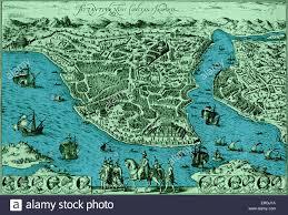 Istanbul Turkey Map Map Of Constantinople In U0027civitas Oreis Terrarum U0027 By Braun And