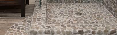 pebble tile bath shower company