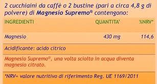 magnesio supremo composizione alcalinizzanti
