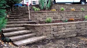 Steep Hill Backyard Ideas Triyae Com U003d Backyard Hill Retaining Wall Various Design