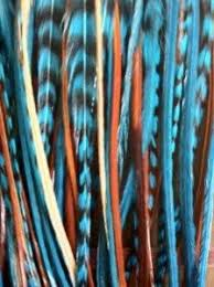 feathers for hair indian blue remix 6 12 feathers for hair extension includes 2