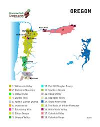 map of oregon wineries a guide to oregon wine united states fermented grape the