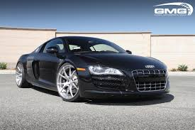 Audi R8 All Black - gmg racing black audi r8 v10 w gmg lms wheels brushed finish gmg