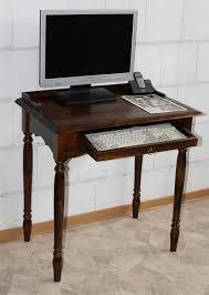 Schreibtisch Klein Holz Schreibtisch Pc Tisch Kolonial Braun Nußbaum Holz Massiv Bei Casa