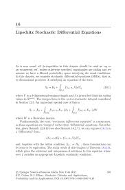 lipschitz stochastic differential equations springer
