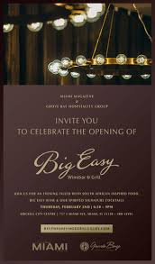 boutique inauguration invitation south florida nights magazine big easy restaurant grand opening
