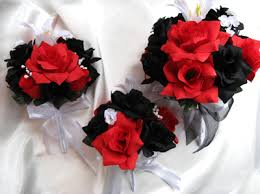 Black And White Corsage Black Red White Lily U2013 Roses And Dreams