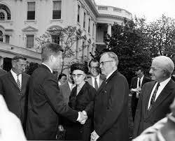 john f kennedy kellogg shaking hands with president john f kennedy special