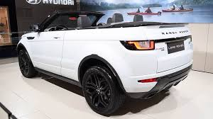 land rover convertible range rover evoque hse convertible crossover suv car on display at