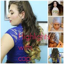 highlights vs frosting of hair highlights at home with frosting cap youtube