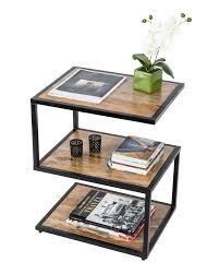 side tables modern modern dakota s shape side table solid mango wood natural shade