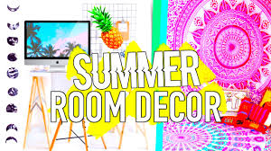 Room Decorations by Diy Summer Room Decor Inspired Easy U0026 Affordable Youtube