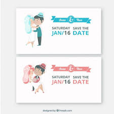 Blue And Red Color Combination Cute Wedding Invitations Cute Wedding Invitations Free Vector With