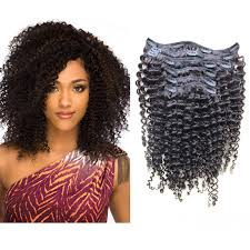 curly hair extensions clip in 6a clip in human hair extensions 100 malaysian afro curly