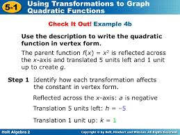 2 2 b writing equations in vertex form ppt download