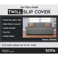 Material For Covering Sofas Brenna Collection Trellis Print Stretch Form Fitted Sofa Slip