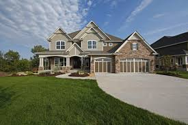 Visbeen Georgetown Floor Plan Marceline Neoclassical Home White Siding Bricks And House Colors