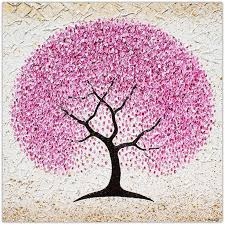 cherry blossom tree textural painting by miranda lloyd paintings