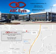 Plano Tx Map Abc Eyes Plano Frisco Office Pediatric Ophthalmologists