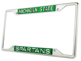michigan state alumni license plate frame college license plate frames