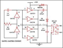 12v to 24v dc converter circuit using hex inverter ic cd4049
