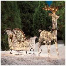 Outdoor Christmas Decorations Deer by These Luminous Deer Figures Will Add A Classic Rustic Charm To
