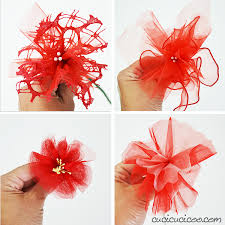 tulle flowers upcycled diy tulle flowers cucicucicoo